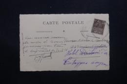 FRANCE - Exposition Coloniale De 1931 De St Jean De Cap Ferrat Sur Carte Postale Photo Pour Entraygues - L 42611 - Marcophilie (Lettres)