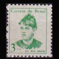 BRAZIL 1967 - Scott# 1038 Dr.Rita Labato 3c MNH - Brazil