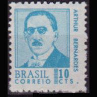 BRAZIL 1967 - Scott# 1063 Pres.Bernardes 10c MNH - Brazil