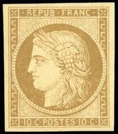 * N°1, 10 Bistre-jaune. Couleur De Référence. SUP. R. - 1849-1850 Ceres