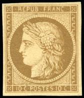 * N°1a, 10c. Bistre-brun. Nuance Très Foncée. SUP. - 1849-1850 Ceres