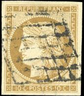 O N°1, 10c. Bistre. Grandes Marges. TB. - 1849-1850 Ceres