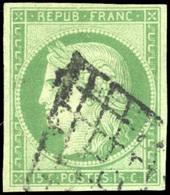 O N°2, 15c. Vert. B. - 1849-1850 Ceres