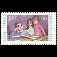 BRAZIL 1968 - Scott# 1102 Book Week Set Of 1 MNH - Brazil
