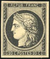 * N°3, 20c. Noir. Très Frais. SUP. - 1849-1850 Ceres