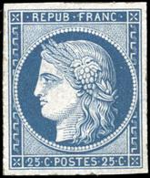 ** N°4, 25c. Bleu. Très Belle Marges. SUP. - 1849-1850 Ceres