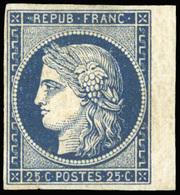 * N°4a, 25c. Bleu Foncé. BdeF. SUP. - 1849-1850 Ceres