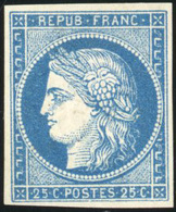 * N°4d, 25c. Bleu. Réimpression. TB. - 1849-1850 Ceres