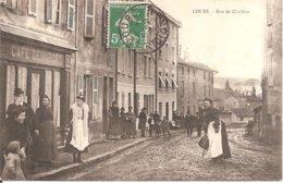 COURS (69) Rue De Charlieu En 1908 (Superbe Animation) - Cours-la-Ville