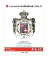 2018 - Sovrano Militare Ordine Di Malta 1425 Stemma - Francobolli