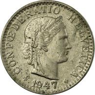 Monnaie, Suisse, 20 Rappen, 1947, Bern, TB+, Copper-nickel, KM:29a - Suisse