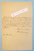 L.A.S 1829 Paul DELAROCHE Peintre(Hippolyte De La Roche Dit) - épousa Une Fille D'Horace Vernet - Lettre Autographe LAS - Autographes