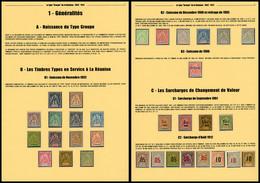 * N°32/79, Belle étude Du Type ''Groupe'' De La Réunion Comprenant Toutes Les Valeurs De Chaque émission, Les Tirages Sp - Réunion (1852-1975)