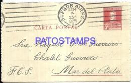 120743 ARGENTINA MAR DEL PLATA YEAR 1925 CIRCULATED TO CHALET GUERRERO POSTAL STATIONERY NO POSTCARD - Interi Postali