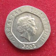 Gibraltar 20 Pence 2002 AA KM# 777 *V2  Gibilterra - Gibraltar