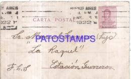 120745 ARGENTINA BUENOS AIRES YEAR 1922 CIRCULATED TO ESTACION GUERRERO BREAK POSTAL STATIONERY NO POSTCARD - Interi Postali