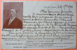 CARTE VILLY EN AUXOIS - 21 - LETTRE MANUSCRITE DE LOUIS COIFFIER 1933 - POETE ECRIVAIN ACADEMIE -SCAN RECTO/VERSO -10 - France