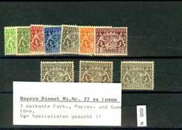 AD Bayern, Xx, Lot Aus 16 - 24, 27 (3x) - Beieren