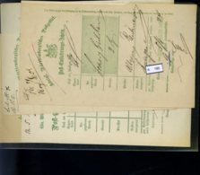 AD Württemberg, 4 Posteinlieferungsscheine (Reproduktionen ?) - Wurtemberg