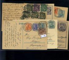 Deutsches Reich, 6 Versch. Ganzsachen Um 1920 - Enteros Postales