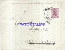 120747 ARGENTINA SAN JUAN COVER YEAR 1922 CIRCULATED TO BUENOS AIRES NO POSTAL STATIONERY POSTCARD - Interi Postali
