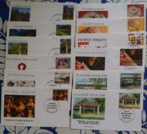 POLYNESIE FRANCAISE 12 FDC 2000/2001 - Polynésie Française