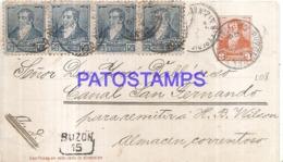 120748 ARGENTINA BUENOS AIRES YEAR 1894 BUZON 15 POSTAL STATIONERY C/ POSTAGE ADDITIONAL BREAK NO POSTCARD - Interi Postali