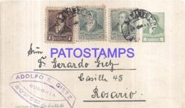 120749 ARGENTINA SALTA YEAR 1893 CIRCULATED TO ROSARIO POSTAL STATIONERY C/ POSTAGE ADDITIONAL NO POSTCARD - Interi Postali