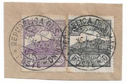 SAN MARINO-1926: 2 Valori Usati Su Frammento (catalogo N. 111-114) Con Annullo Datato 6/11/1926-in Buone Condizioni. - Saint-Marin