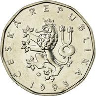 Monnaie, République Tchèque, 2 Koruny, 1993, TTB, Nickel Plated Steel, KM:9 - Repubblica Ceca