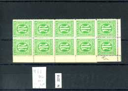 AM POST, Xx, 3, Bogenteil Mit Plattenfehler Feld 62 - Zona Anglo-Américan