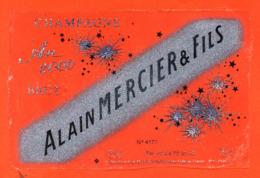 étiquette De Champagne Brut Transparente An 2000alain Mercier à Passy Sur Marne - 75 Cl - Año 2000
