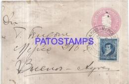 120752 ARGENTINA BUENOS AIRES COVER CANCEL MERCEDES POSTAL STATIONERY C/ POSTAGE ADDITIONAL NO POSTCARD - Interi Postali