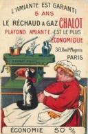 CARTE PUBLICITAIRE  LE RECHAUD A GAZ CHALOT Boulevard Magenta - Werbepostkarten