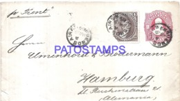 120753 ARGENTINA BUENOS AIRES COVER YEAR 1889 CIRCULATED TO GERMANY POSTAL STATIONERY C/ POSTAGE ADDITIONAL NO POSTCARD - Interi Postali