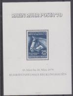 Germany 1979 Rhein Ruhr Posta '79 M/s PRIVATE ISSUE ** Mnh (44878) - [7] West-Duitsland