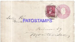 120754 ARGENTINA BUENOS AIRES COVER CIRCULATED TO URUGUAY POSTAL STATIONERY C/ POSTAGE ADDITIONAL NO POSTCARD - Interi Postali