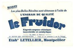 Buvard Le Fruidor, Engrais De Qualité, Ets Letellier, Montpellier - Agriculture