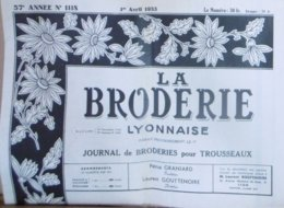 LA BRODERIE LYONNAISE N° 1118 1ER AVRIL 1955 - Fashion