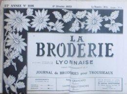 LA BRODERIE LYONNAISE N° 1116 1ER FEVRIER 1955 - Moda