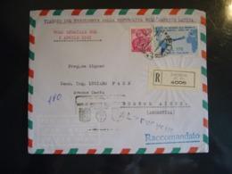 1961 VIAGGIO PRESIDENTE DELLA REPUBBLICA NELL'AMERICA LATINA ARGENTINA  VOLO SPECIALE BUSTA AFFRANCATA - 6. 1946-.. República