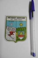 Autocollant Stickers - Blason METABIEF - écusson Adhésif 25 DOUBS - Stickers