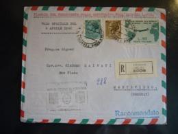 1961 VIAGGIO PRESIDENTE DELLA REPUBBLICA NELL'AMERICA LATINA URUGUAY  VOLO SPECIALE BUSTA AFFRANCATA - 6. 1946-.. República