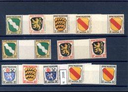 Franz. Zone, Xx, Allg. Ausgabe, 1-10 ZW - Französische Zone