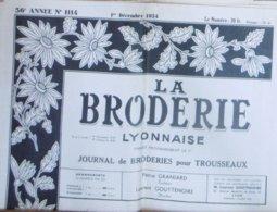 LA BRODERIE LYONNAISE N° 1114 1ER DECEMBRE 1954 - Moda