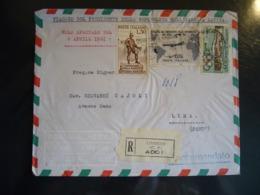 1961 VIAGGIO PRESIDENTE DELLA REPUBBLICA NELL'AMERICA LATINA  PERU'  VOLO SPECIALE BUSTA AFFRANCATA - 6. 1946-.. República