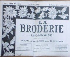 LA BRODERIE LYONNAISE N° 1092 1ER FEVRIER 1953 - Moda