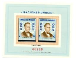 Paraguay 1963-ONU-Dag Hammarskjoid-MI B44***MNH - Dag Hammarskjöld