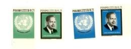 Panama-1965-ONU-Dag Hammarskjoid-Y 759/60 Dentelé Et NON Dentelé***MNH - Dag Hammarskjöld