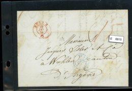 Schweiz Vorphilatelie, Brief Nach Wohlen (Aargau), Aus Bulle, 1854 - Suisse